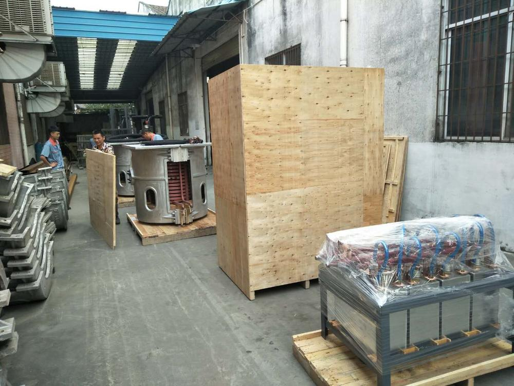 750kg of Cast Iron Electric Melting Furnace Shipped to Ukraine