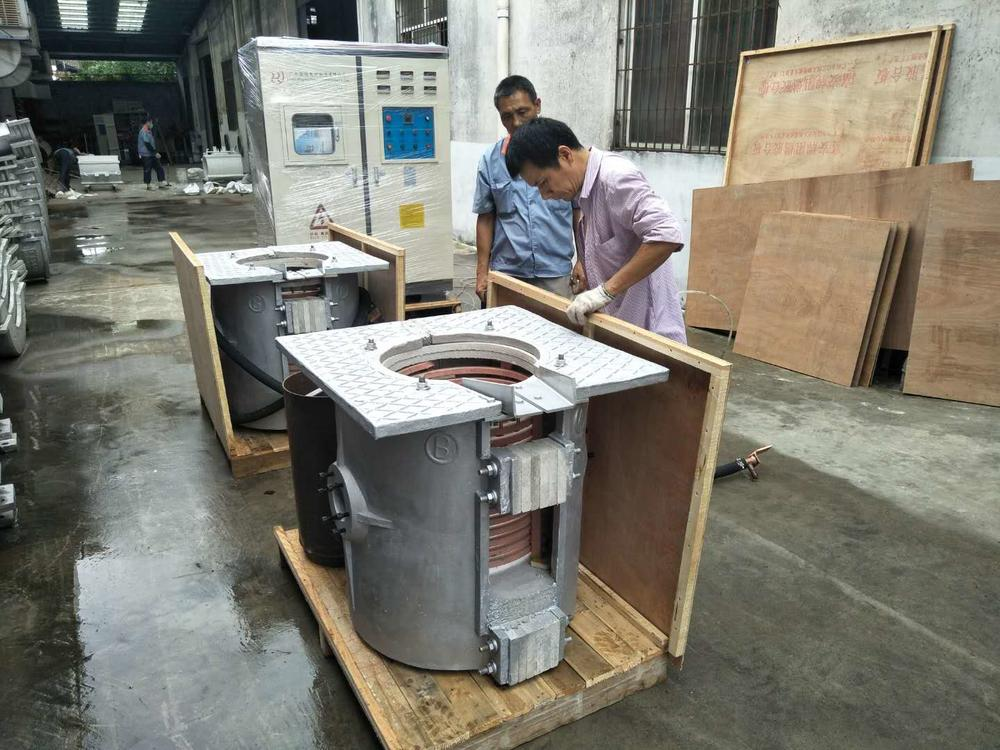 150kg of Steel Scrap Melting Furnace with 2 Furnace Bodies Shipped to Colombia